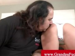 older man jeremy eats youthful pussy