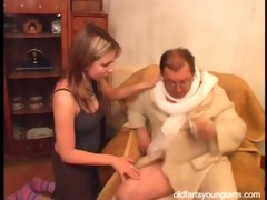 natalli fucking an unattractive old chap - coffee