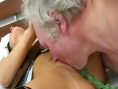 pounding her poopchute