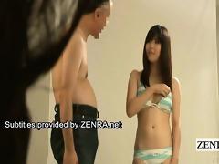subtitle enf japanese bikini idol undresses naked