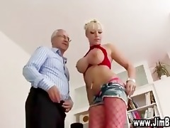 breasty blond in nylons acquires off