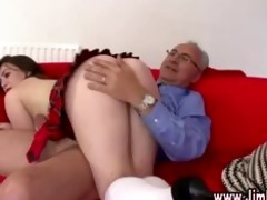 mature lad spanks wicked schoolgirl