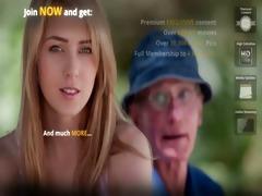 youthful blond chick bonks hers granddad boyfriend