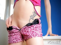 girl fondles her wet crack