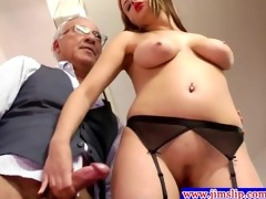 golden-haired euro hotties anal pleasure with old