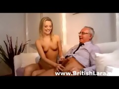 cute young blond playgirl bonks mature british