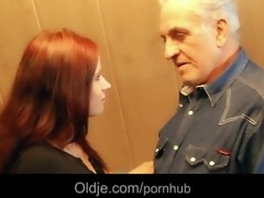 grandpapa receives raunchy thanks from hussy