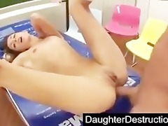 cute youthful daughter fucked into ass hard