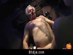 glad sex-alloween night for old man