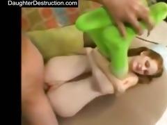 youthful daughter raw screwed in backseat