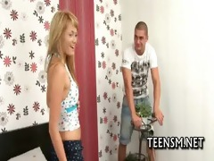legal age teenager cutie receives tough experience