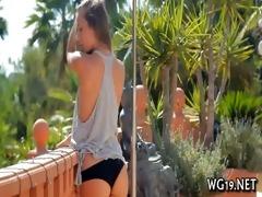 chick stimulates love button