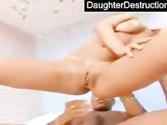 daughter face hole and love tunnel screwed hard