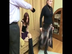 daughter+girlfriend are spanked 710