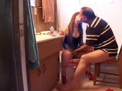 horny daughter plays with her daddy..