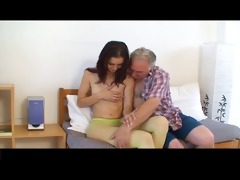 tiny tittted cutie acquires screwed by grandpapa