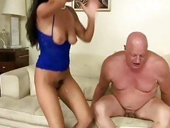 wicked brunette hair fucking plump older man