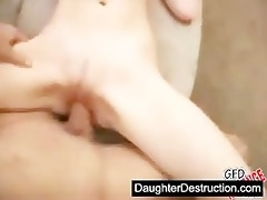 cute youthful legal age teenager daughter drilled