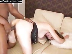 youthful gal monsterfucked in her face hole and