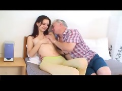 miniature tittted gal gets screwed by aged chap