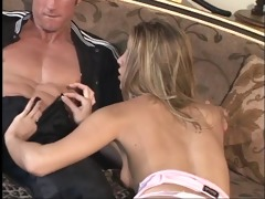 golden-haired let&s an mature man smack her
