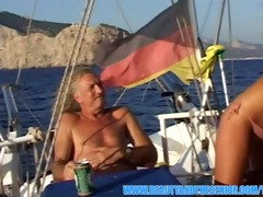 breathtaking blond fucked on a boat