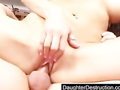 cute youthful legal age teenager daughter fucked